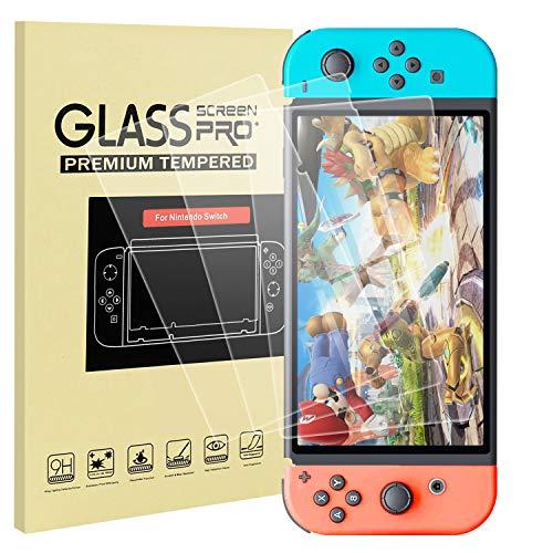 Lunriwis Displayschutzfolie Glas für Nintendo Switch,HD Displayschutzfolie 9H-Härte Anti- Kratzer Bläschenfrei 2.5D Runde Kante Hohe Empfindlichkeit Panzerglasfolie für Switch Schutzfolie (3 Stück)
