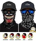 ECOMBOS Multifunktionstuch - Bedrucktes Schlauchtuch Bandana Face Shield Gesichtsmaske Halstuch Qualitäts Bandana, Ski Motorrad Paintball Maske (Venom+Camouflage)