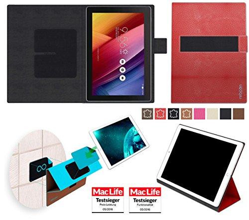 reboon Hülle für Asus Zenpad 10 Z300M Tasche Cover Case Bumper | in Rot Leder | Testsieger