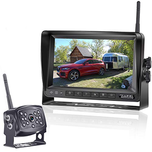 AMTIFO HD 960P Digital Wireless Backup Camera with 7 Inch Monitor for...