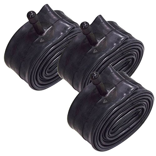 VeloChampion Paquete de 3 Tubos Interiores MTB 26 x 1.75/2.125 Pulgadas con válvula Presta/Schrader 36 mm (26' (1.75/2.125), 36mm Schrader)