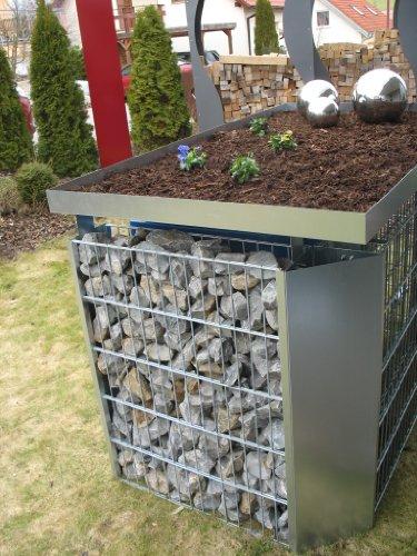 Mülltonnenverkleidung Mülltonnenbox Müllboxen Metall - 3