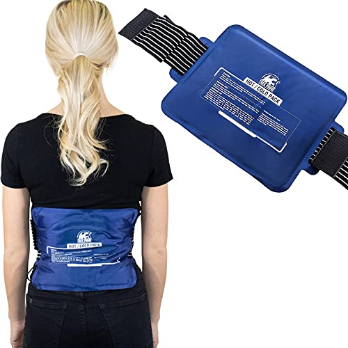 Ice Pack with Strap (Large) - Hot and Cold Therapy Reusable Gel...