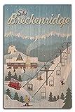Ski Breckenridge (, Colorado–Retro Ski Resort, holz,