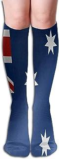 iuitt7rtree Calcetines Foto de la Bandera de Australia Calcetines Personalizados para Mujeres Calcetines para niñas