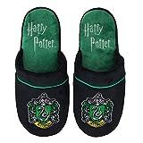 Groovy Harry Potter Slytherin - Pantuflas (talla 44-44), color negro