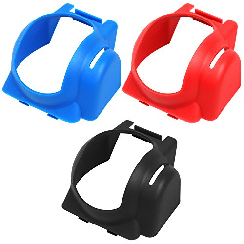 Lens Hood Compatible Mavic Pro Drone, AFUNTA 3 Pack Gimbal Protective Cover Cap Anti-Glare Sun Shade Protector - Black, Blue, Red
