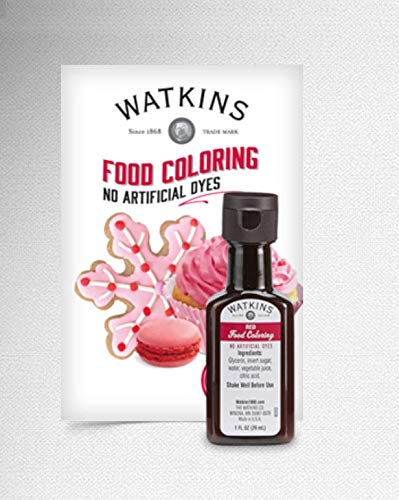 WATKINS RED FOOD COLORING ALL NATURAL - NO ARTIFICIAL DYES