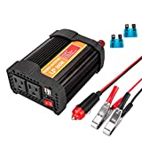 Car Power Inverter, LP 300W Power Inverter Truck/RV Inverter 12V DC to 110V AC Converter with Dual AC Outlets 2.1A USB Modified...