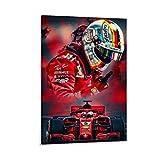 Huangchen Sebastian Vettel F1 Racing Driver Poster,
