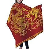 ALUONI Waterproof Barber Cape - Haircut Gown Color Salon Styling Barbershop Supplies Hairdresser Cutting Apron 55×66 inch - Dragon And Phoenix In Chinese Classical Art And Literature No085989