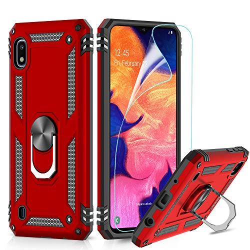 LeYi Hülle für Samsung Galaxy A10 / Galaxy M10 Handyhülle,360 Grad Cover TPU Magnetische Bumper Schutzhülle mit HD Folie Schutzfolie für Case Samsung Galaxy A10 / Galaxy M10 Handy Hüllen Red