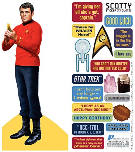 Star Trek Scotty Quotable Opmerkelijk - Die Cut Silhouette wenskaart en stickervel