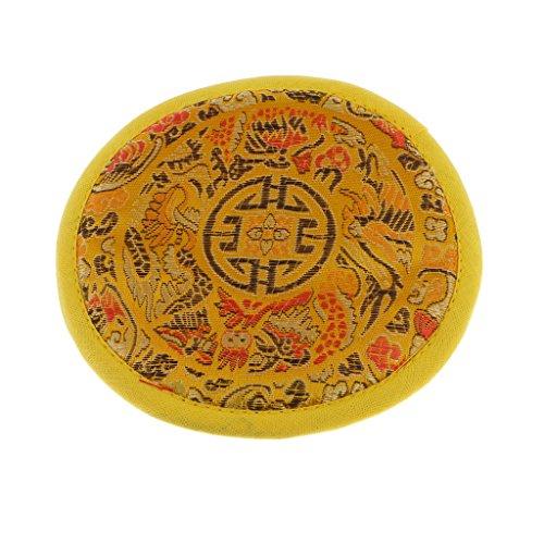 sharprepublic Rundes Tuch Tibetische Klangschale Kissen Kissen Für Dharma - Durchmesser 12cm