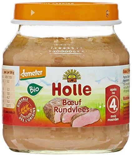 Holle Petit Pot Viande de Bœuf 125 g Lot de 3