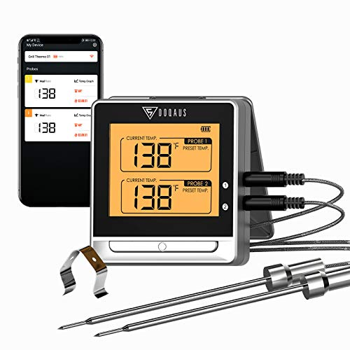 DOQAUS Digital Meat Thermometer, 3s Instant Read Food Thermometer, Cooking Thermometer with Ambidextrous Display, Backlight, Foldable & Long Probe for Grill Candy Turkey BBQ Milk Water¡