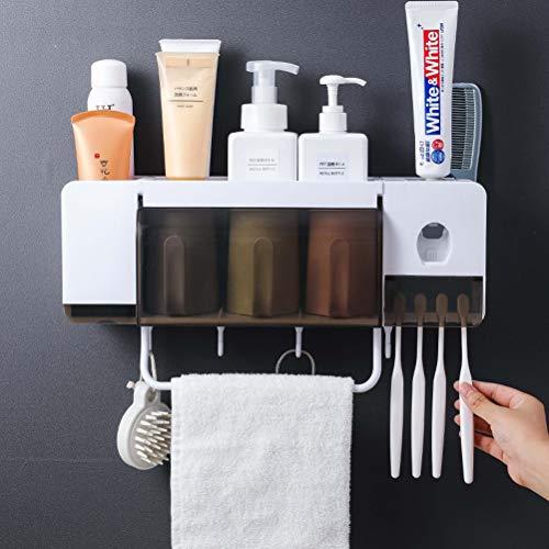 Honey WYJ Punch-Free Bagli Cup Set bamboevezels Muro Holder poeder tandenborstelset met tandpasta tip voor badkamer
