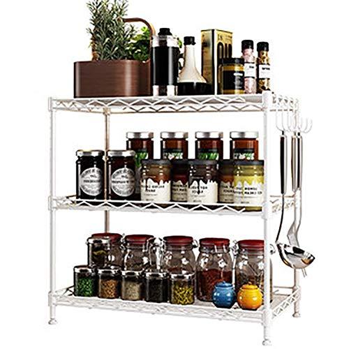 XYZX keuken plank organisator, meerdere verdiepingen balkon opslag rack kruidenrek met haken