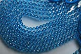 world beads - GEMS-WORLD Beads Gemstone 91 Cts, 10 Inches Long Strand, AAA Natural Swiss Blue Topaz Faceted Round Rondelles 6.25-6.5mm