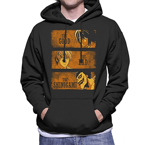 Cloud City 7 Death Note The Good The Bad and The Shinigami Men's Hooded Sweatshirt