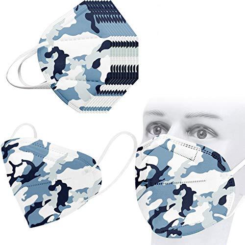 MaNMaNing 5 Capas 10-50 Unidades Camuflaje con Elástico par
