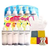 Kit Tie-Dye de un Solo Paso, 5 Colores Rainbow Set Tejido Pinturas Textiles Kit Tie Dye Kit DIY Ropa Graffiti Dye Party Supplies Kit de Pintura Permanente de Colores restaurados Kit de Tinte