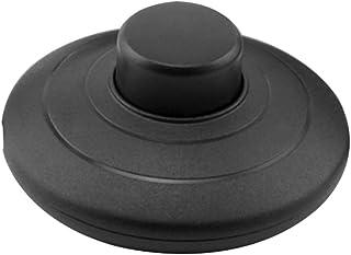 MZMing [1 Pack] Interruptor de presión en línea para pie para lámpara estándar para 2 o 3 Core Flex In Black para lámpara de pie y mesa - Interruptor de 70 mm de diámetro