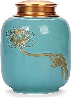 GHJA Boîte à thé en céramique Bocaux à Biscuits en céramique Vintage, Grande boîte de Rangement pour Organisation de Cuisi...
