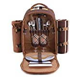 apollo walker Picnic Backpack Bag for 2 Person with Cooler Compartment, Detachable Bottle/...