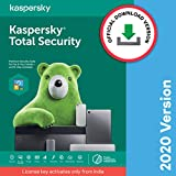 Kaspersky Total Security 2020 Latest Version - 1 PC, 1 Year (Code emailed in 2 Hours - No CD)