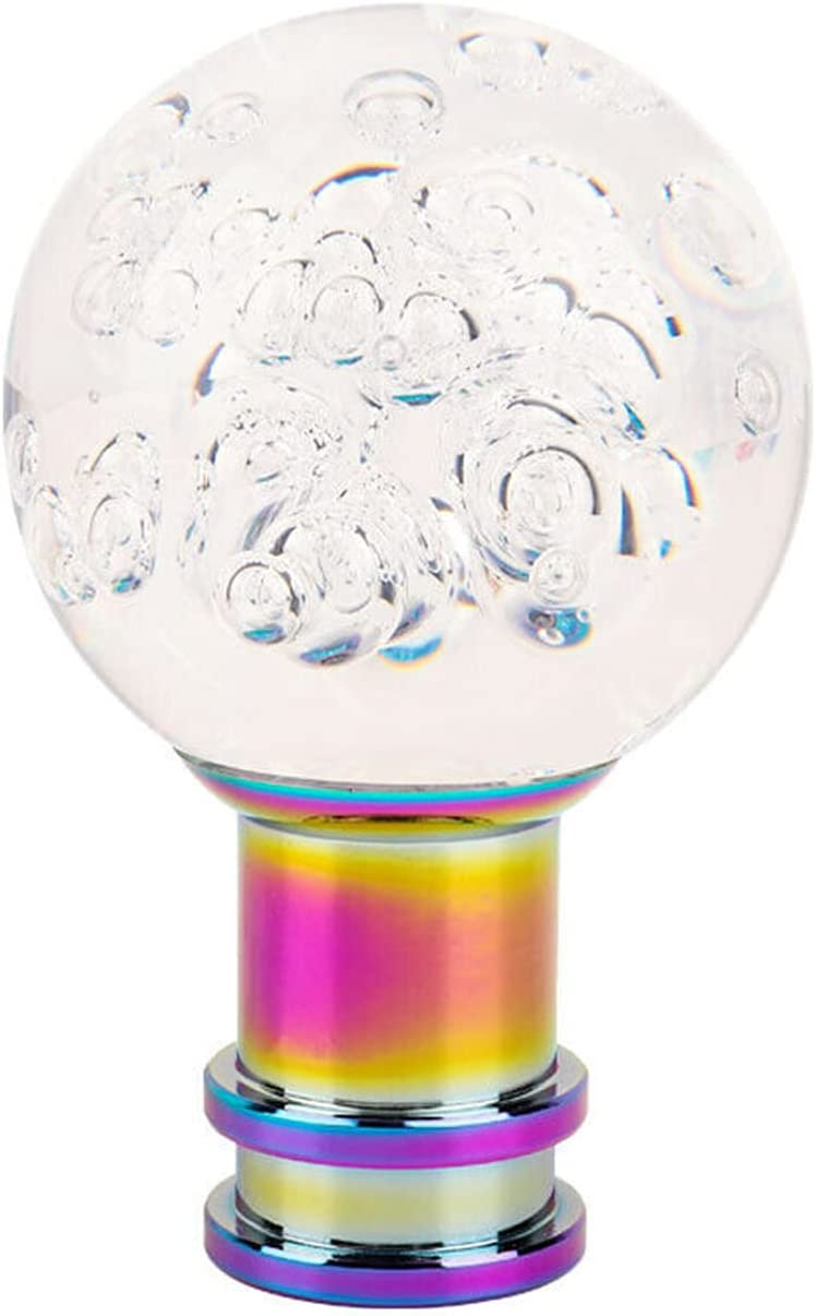 Car High quality Courier shipping free shipping Gear Shift Knob Manual Ba Round Bubble Crystal Acrylic