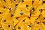 Brunswick Mills Bienenen-Druck auf goldfarbenem