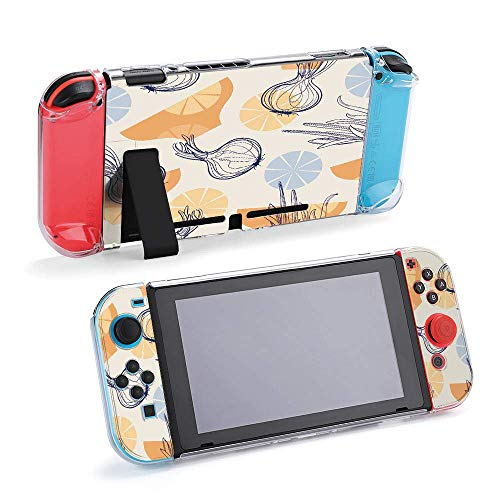 Cebollas y placas de fondo compatible con consola Nintendo Switch y funda protectora Joy-Con, duradera, flexible, absorción de golpes, antiarañazos, protección contra caídas