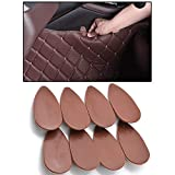 XUKEY 8x Universal Brown Car Floor Mats Anti-Slip Clips Auto Carpet Fixing Grips Clamps Holders Retention Retainer Auto Styling Tools