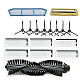 TOOGOO Kits de Remplacement de Filtres pour Filtre Ilife A4 A6 A4S A8 A40 Hepa et Filtre Primaire et Brosse LatéRale
