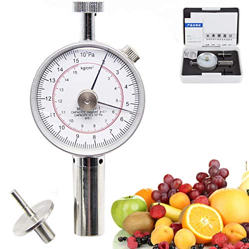 Probador de la dureza de la fruta Penetrómetro de firmeza de la fruta Esclerómetro Medidor Tipo de puntero Penetrómetro de la fruta para determinar el nivel de madurez de la fruta (GY-1)