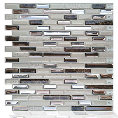 GuoQiang Zhou Pegatinas para azulejos marroquíes, autoadhesivas, impermeables, para cocina, baño, vinilo, 10 unidades