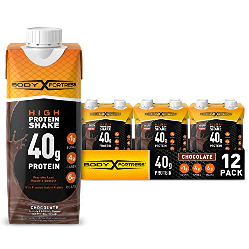 Body Fortress Ready to Drink Protein Shake, 40g of Protein, Chocolate, 11 Fl Oz (Pack of 12)