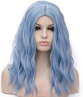 OneUstar Women's 18 inch Long Wavy Curly Wig Cosplay Party Wig for Women