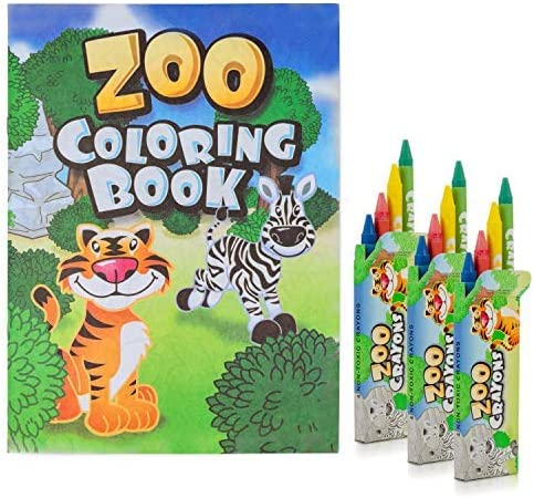 FAVONIR Zoo Seasonal Wrap Introduction Coloring Books and crayons Includes Max 42% OFF - a 72 set
