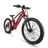 Accolmile Bicicleta de Montaña Eléctrica de 27,5 Pulgadas, Motor Central Eléctrico 48V 750W, con Batería de Litio Actualizado de 17,5 Ah, Shimano de 8 Velocidades