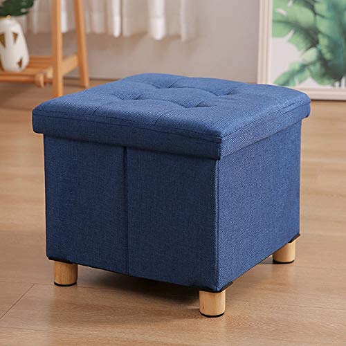 YYBFP Folding Storage Seat, Footstool Ottoman Coffee Table With Wooden Legs And Tray Cover Luggage Seat Maximum Load Capacity Of 130 Kg Multi-Color Options