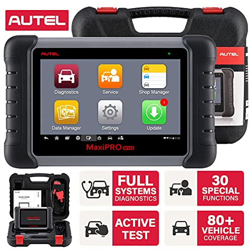 Autel Scanner MaxiPRO MP808 OBD2 Diagnostic Scan Tool with Bi-directional Control, Key Fob Programming, ABS bleeding brake, Reset Functions including Oil Reset, EPB, SAS, DPF, BMS, ABS, SRS, TPMS