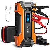 KYG Booster Batterie Rechargeable et Portable Démarrage de Voiture et Moto Jump Starter Robuste 10000mAh 800A, LED Lampe de 3 Modes et Écran LCD