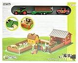 Toi-Toys 21756A - Spielset Farm mit Tieren, Traktor, Auto und viel Zubehör - Unknown