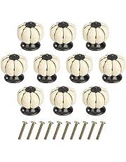 Perillas de Gabinete Redondas Perillas de Cajón Calabaza Tiradores de Muebles Perilla de la Puerta con Tornillo Perillas Manijas para Armario Cajón Aparador Cocina 10 Piezas