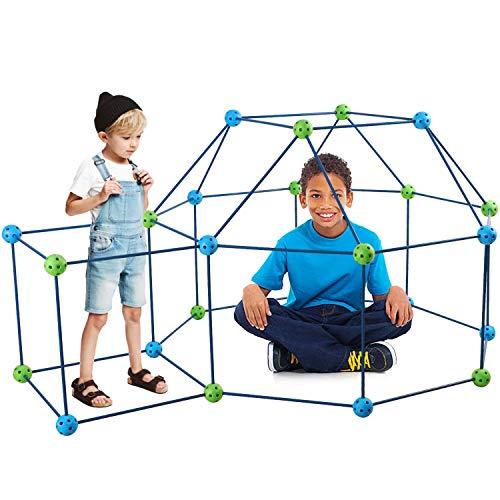 vamei 85 Stück Konstruktionsspielzeug Kinder Forts Bauspielzeug Schloss Baustein Bausatz Kunststoff Bauset Baukasten Lernspielzeug Kreative Spielzeug Kinder Jungen Mädchen ab 6 Jahre