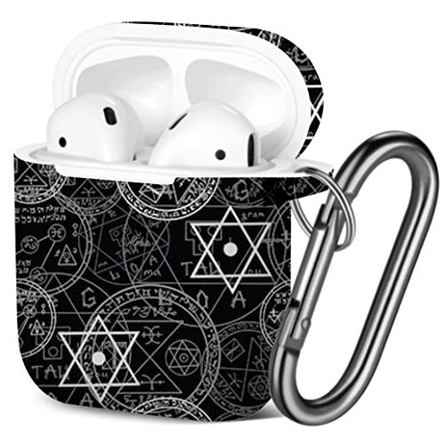 Compatible with AirPods 2 and 1 Elephants Birds Flowers Shockproof Soft TPU Gel Case Cover with Keychain Carabiner for Apple AirPods