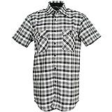 Camisas Country Camisa 1/4brazo Negro Cuadros, Negro, 486037
