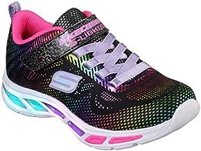 Skechers Kids Girls' Litebeams-Gleam N'DREAM Sneaker, black/multi, 4.5 Medium US Big Kid
